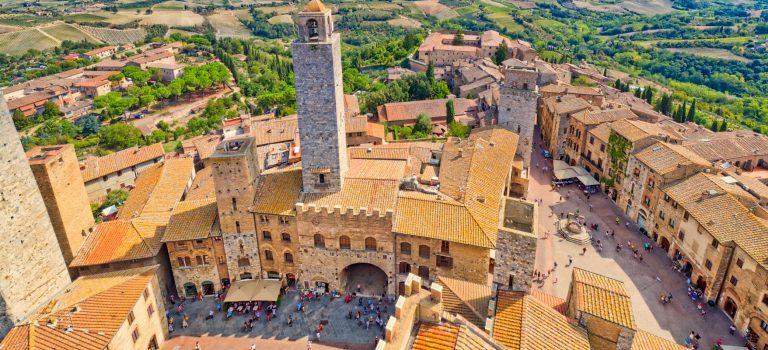 El centro de San Gimignano