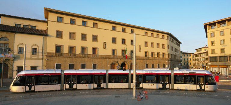 tranvía en Florencia